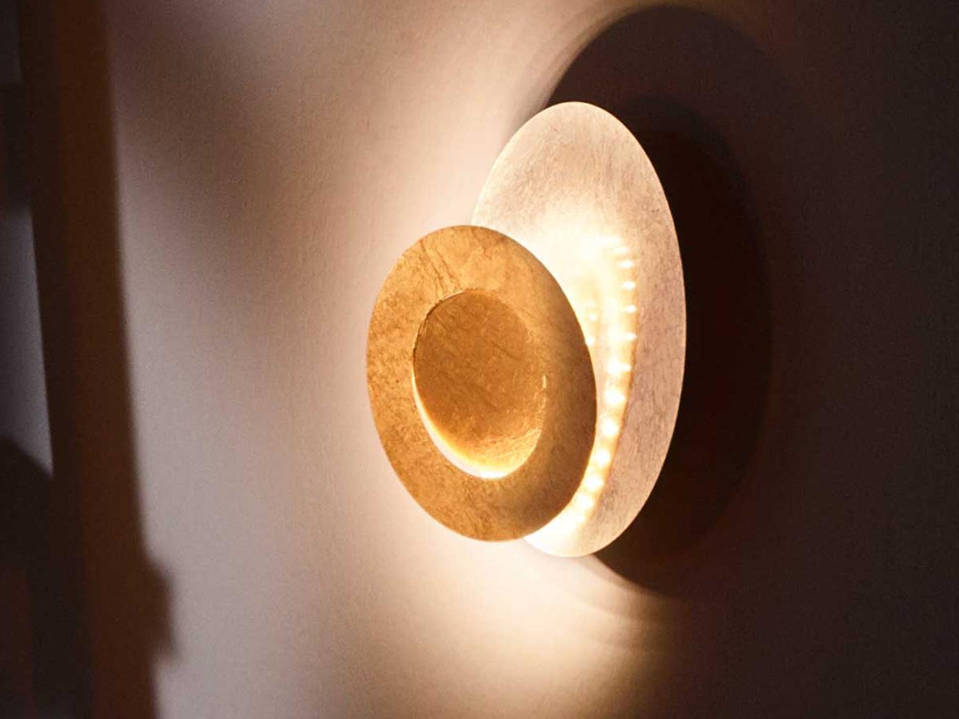 Design Led Wandleuchte 10 Watt Goldfarben O 24 Cm Elegante