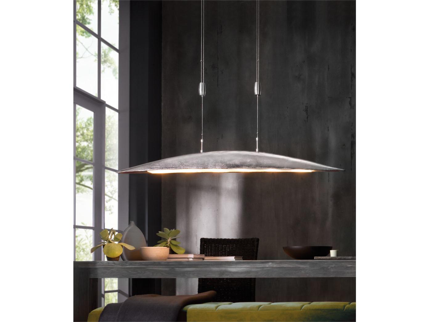 fischer led pendelleuchte shine alu h henverstellbar. Black Bedroom Furniture Sets. Home Design Ideas