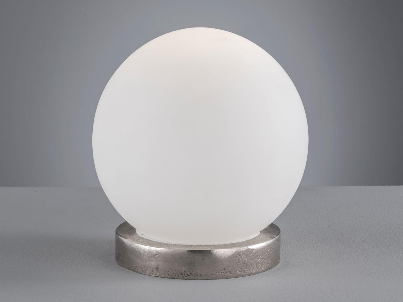 Wohnzimmerlampe LED Tischleuchte in Kugelform Ø25cm weiße Glaskugel opal matt
