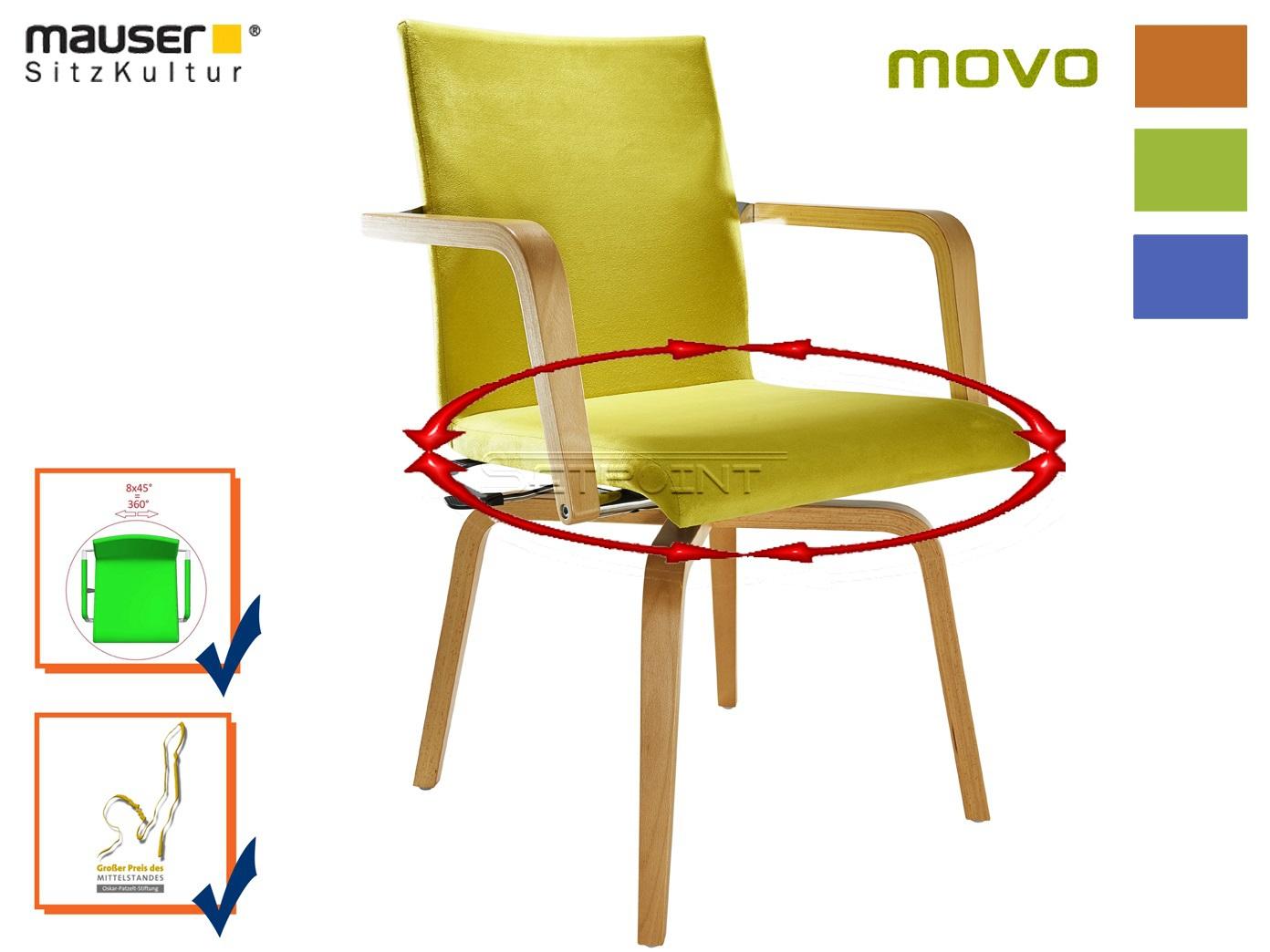 Grüner Funktionsstuhl MOVO Rotationsstuhl Senioren Stuhl