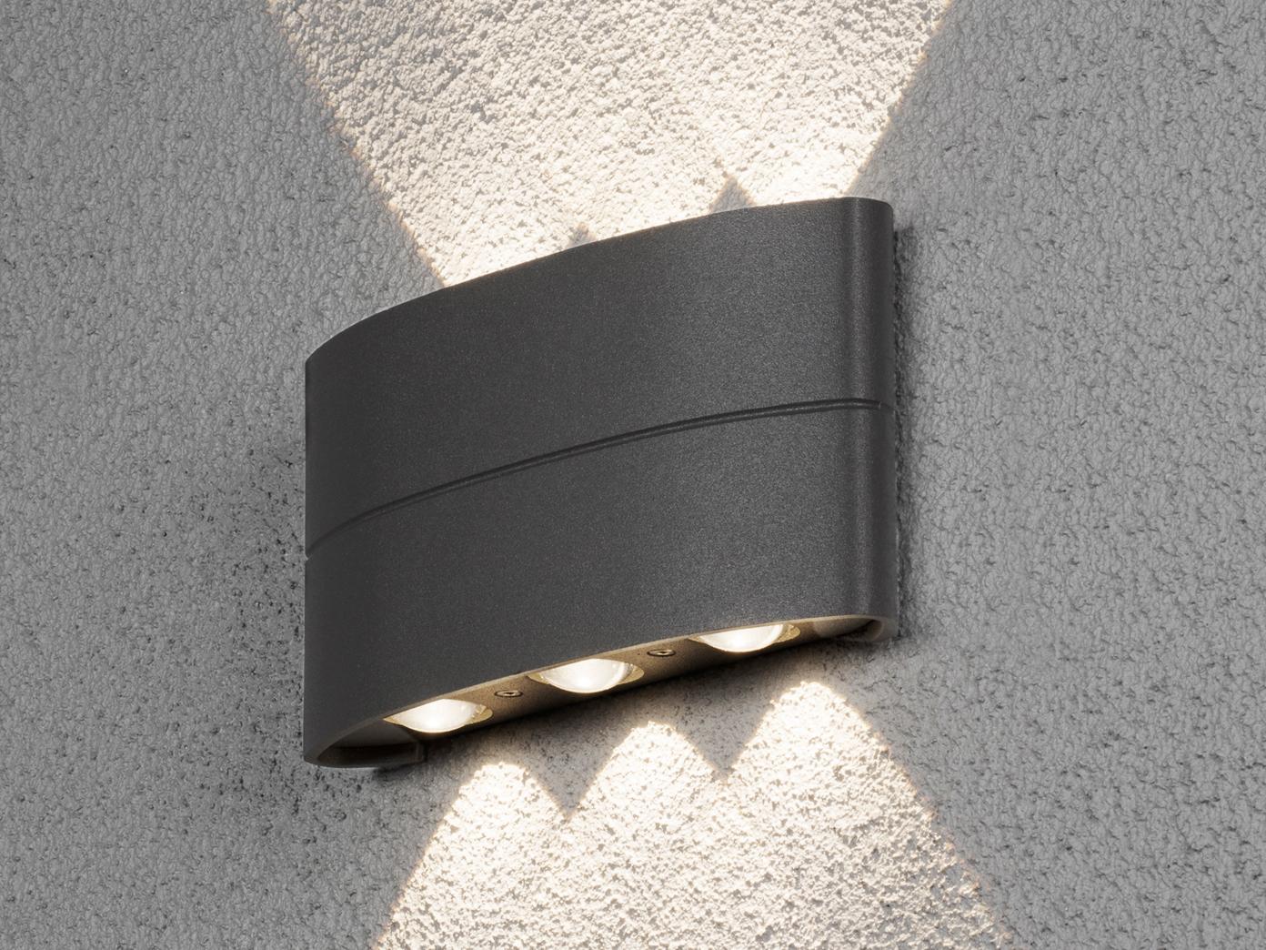Beliebt Flache LED Außenleuchte Anthrazit Up & Down 6W IP54 YH84