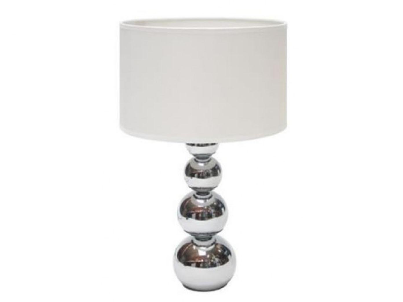 Tischleuchte mit Touchfunktion Chrom Schirm weiß Tischlampe Touchlampe