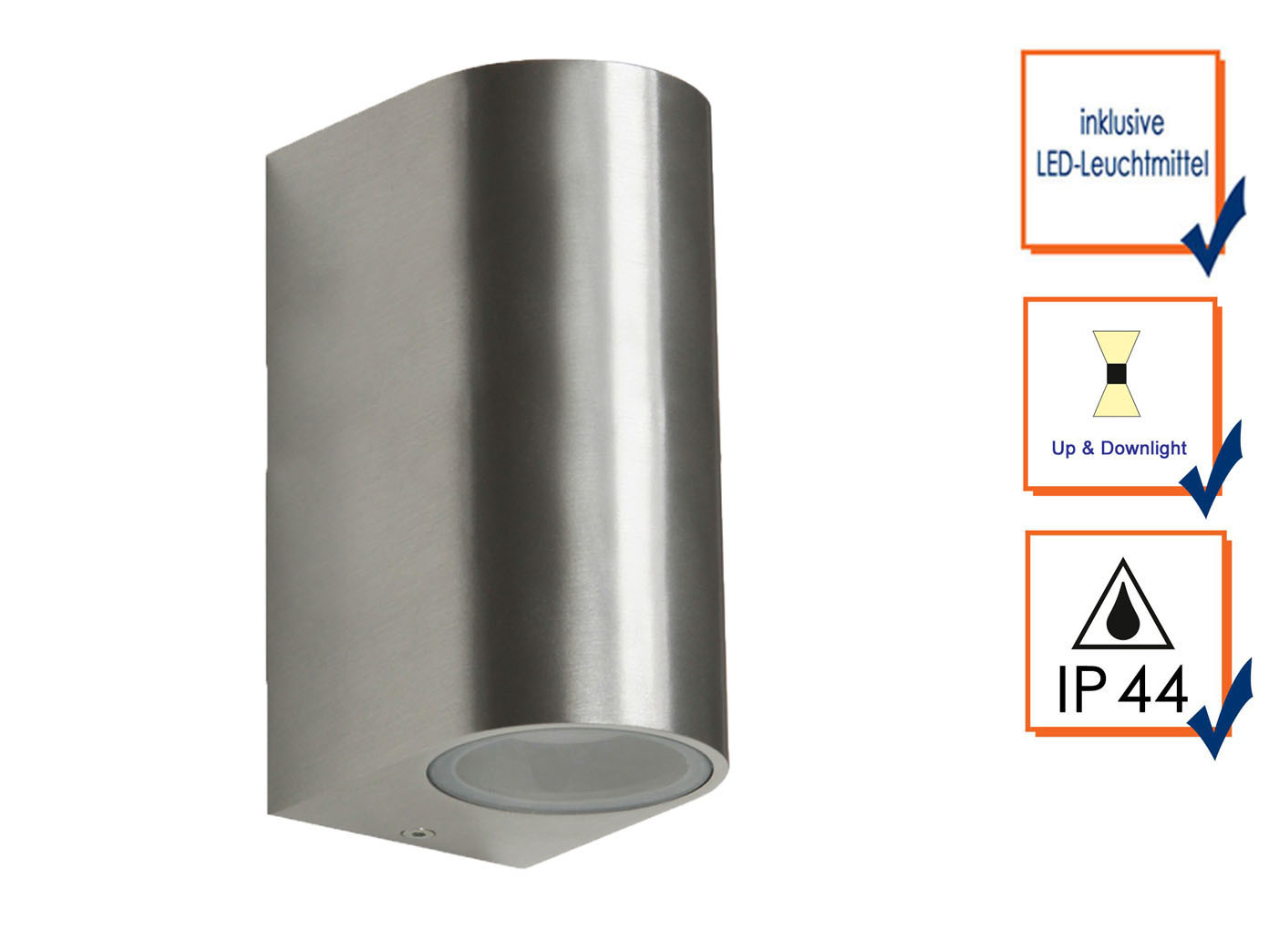 6er Set LED Wandleuchte Wandleuchte Wandleuchte Metall, up downlight, 160Lm, warm, IP44 11acc9