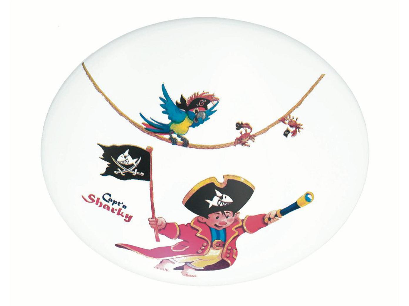 Kinderzimmerleuchte Pirat Käptn Sharky Für Jungen Mädchen Kinderlampe Decke