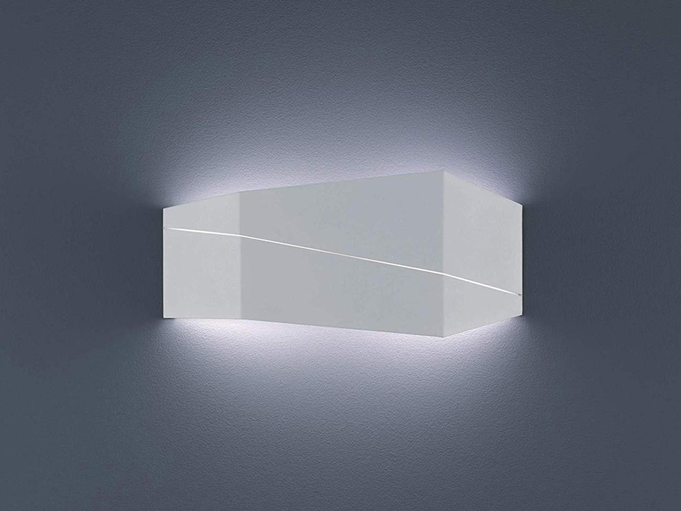 ... 2er SET Wandbeleuchtung In Weiß Matt Für Wohnzimmer, Modernes Flurlicht  40x18cm 3 ...