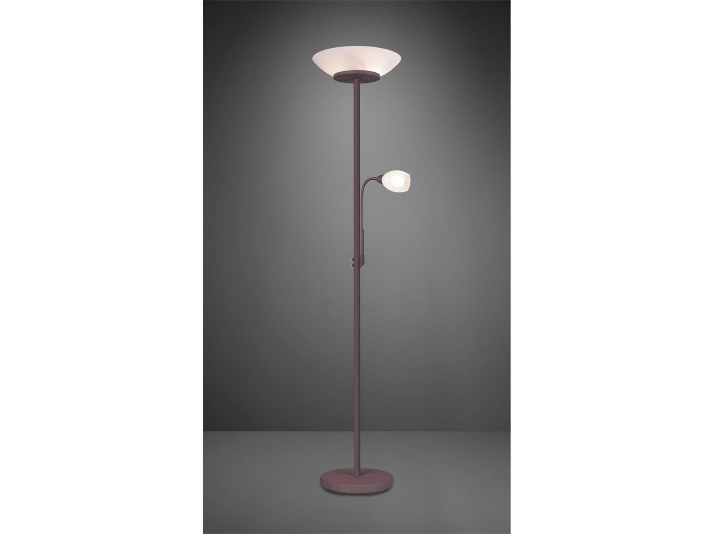 Stehlampe Mit Deckenfluter Flex Lesearm Getrennt Schaltbar In