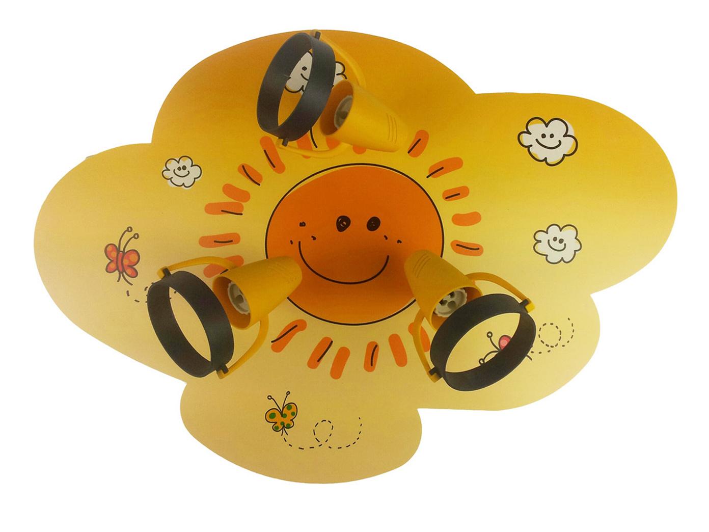 Deckenlampe Kinderzimmer SUNNY 3 Spots schwenkbar Lampe Kinderzimmer ...