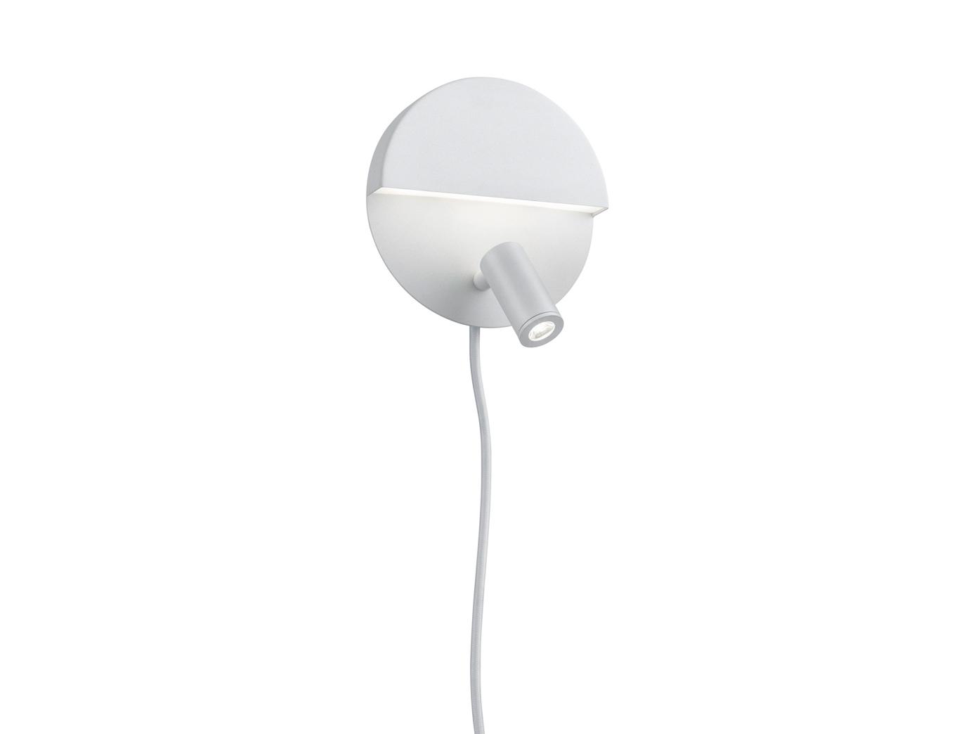 LED runde Wandlampe mit mehreren Lichtquellen weiß matt getrennt schaltbar