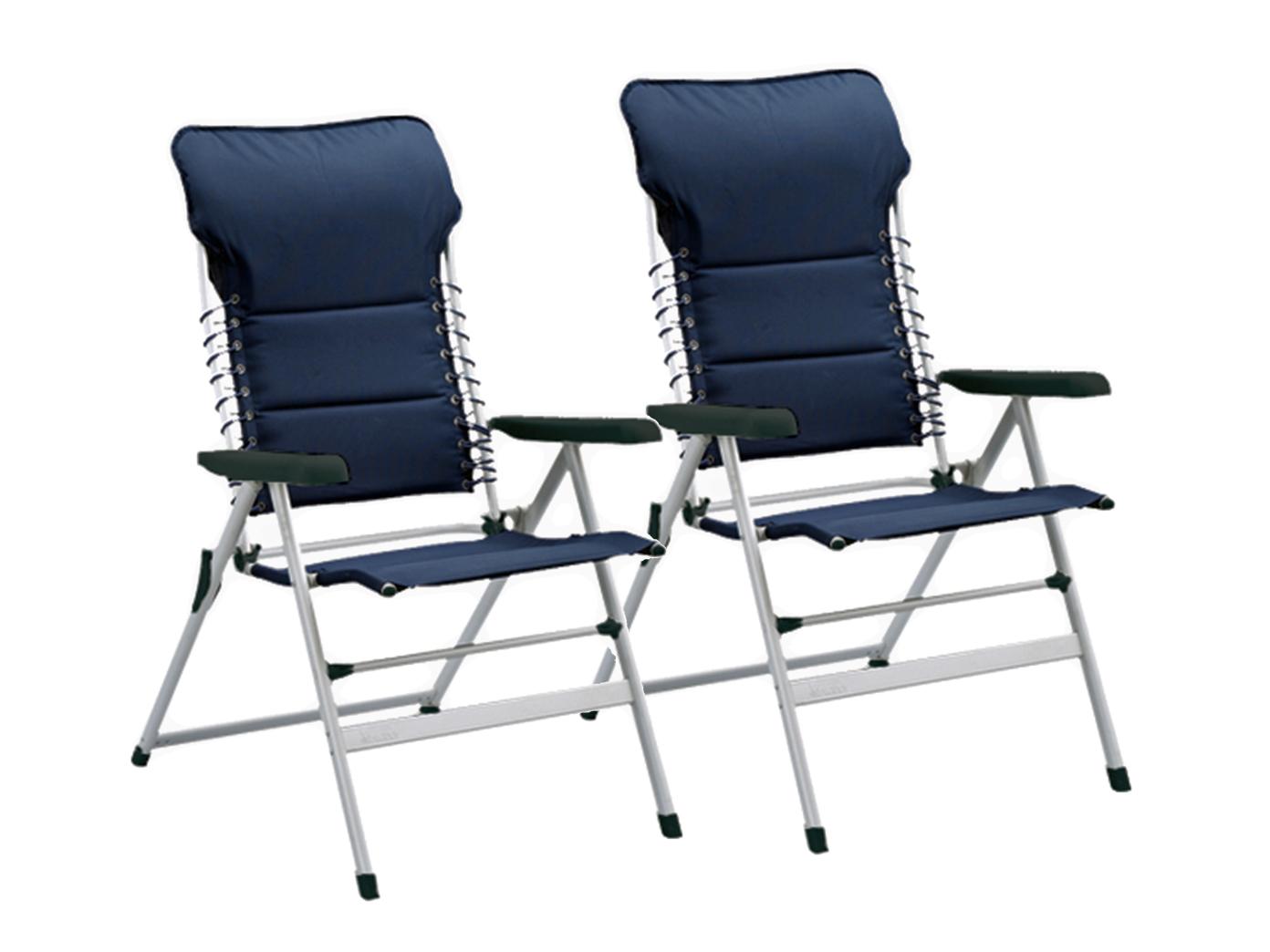 Campingstuhl Liegestuhl.2x Campingstuhl Liegestuhl Sonnenliege Gartenliege Strandliege Relaxliege Navy