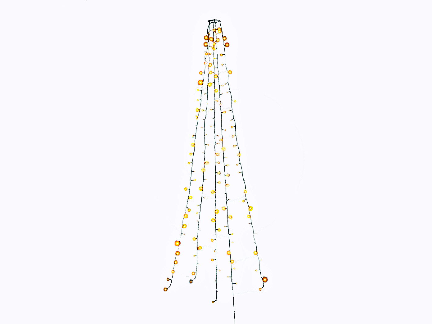 Lichterkette Weihnachtsbaum.Lichterkette Für Innen 200 Led S 6h Timer Weihnachtsbaum Beleuchtung Christbaum