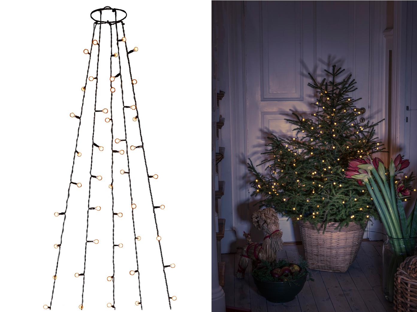 Lichterkette Weihnachtsbaum.Lichterkette Für Innen 250 Bernsteinfarbene Led S Weihnachtsbaum Beleuchtung