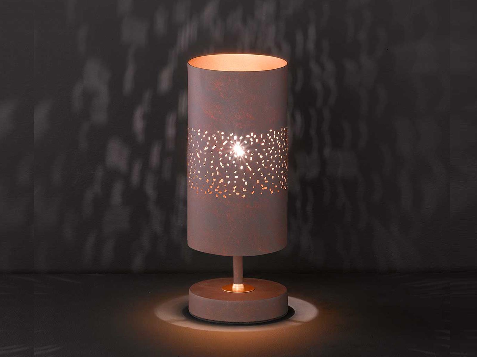 Design Tischleuchte Nachttischlampe Tischlampe Nachttischleuchte MDF Schwarz