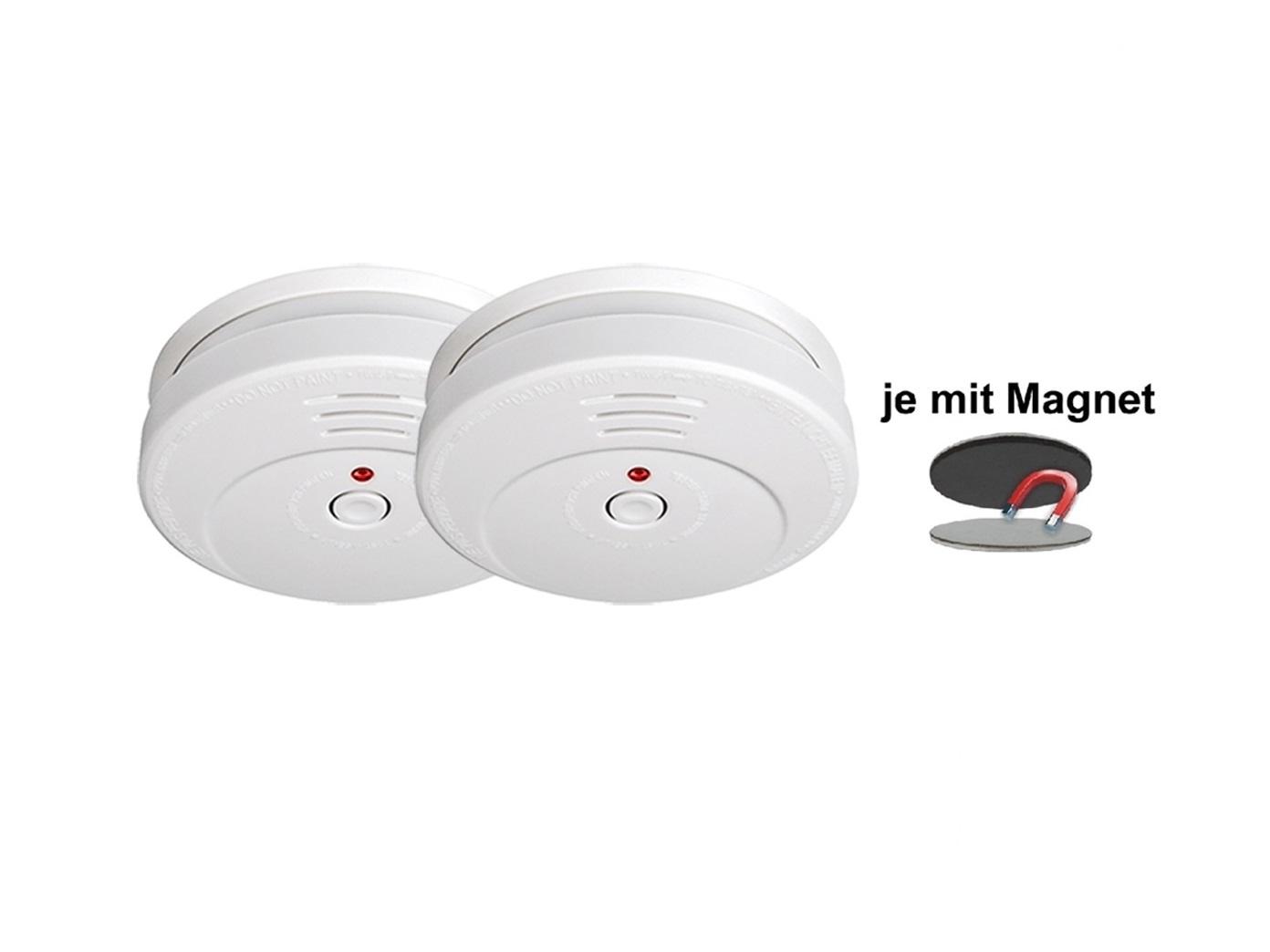 Brand Feuer Melder Rauchwarnmelder TÜV zertifiziert mit EASY Magnetmontage