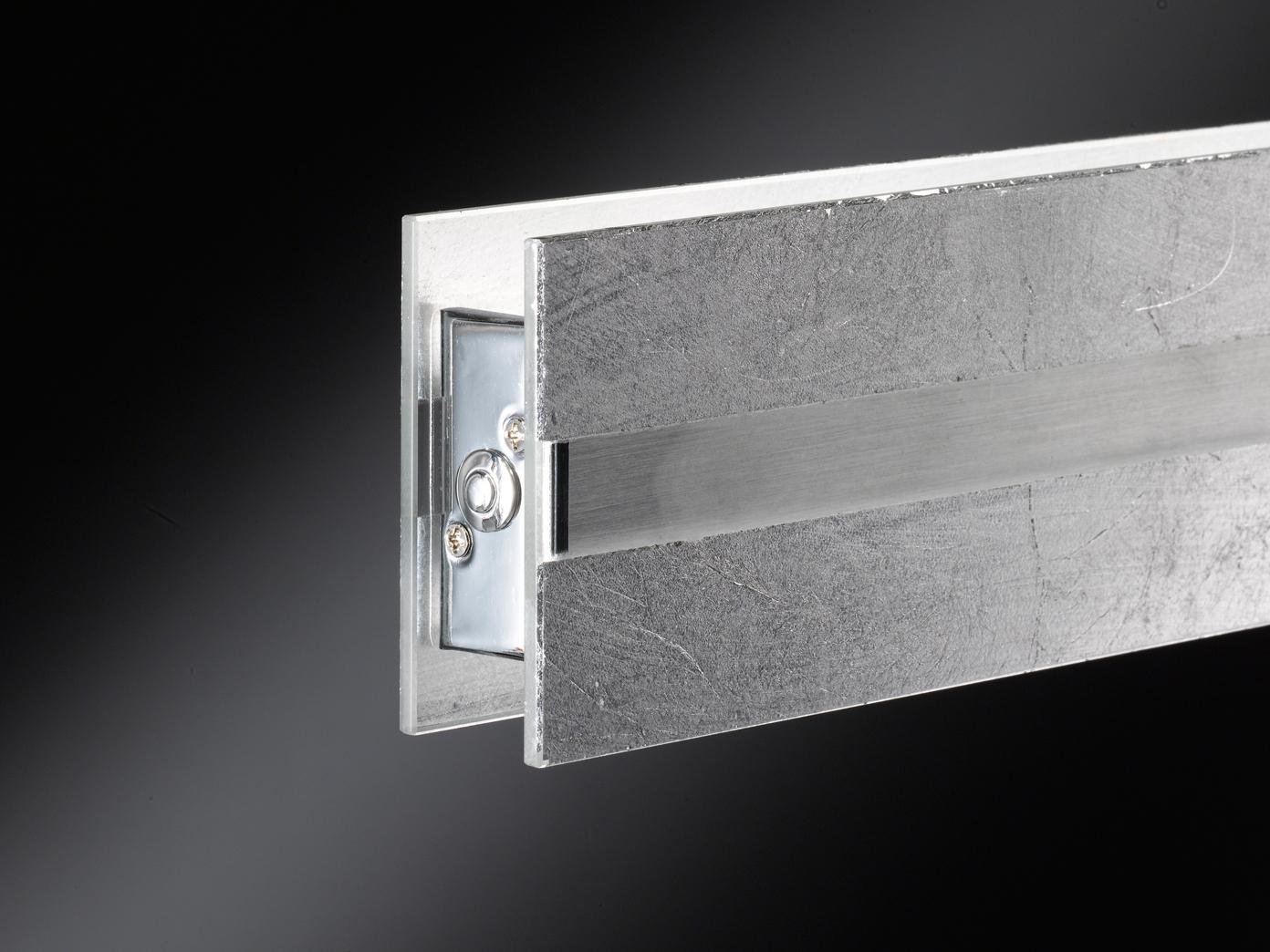 silberne led pendelleuchte dimmbar h henverstellbar 14 5w. Black Bedroom Furniture Sets. Home Design Ideas