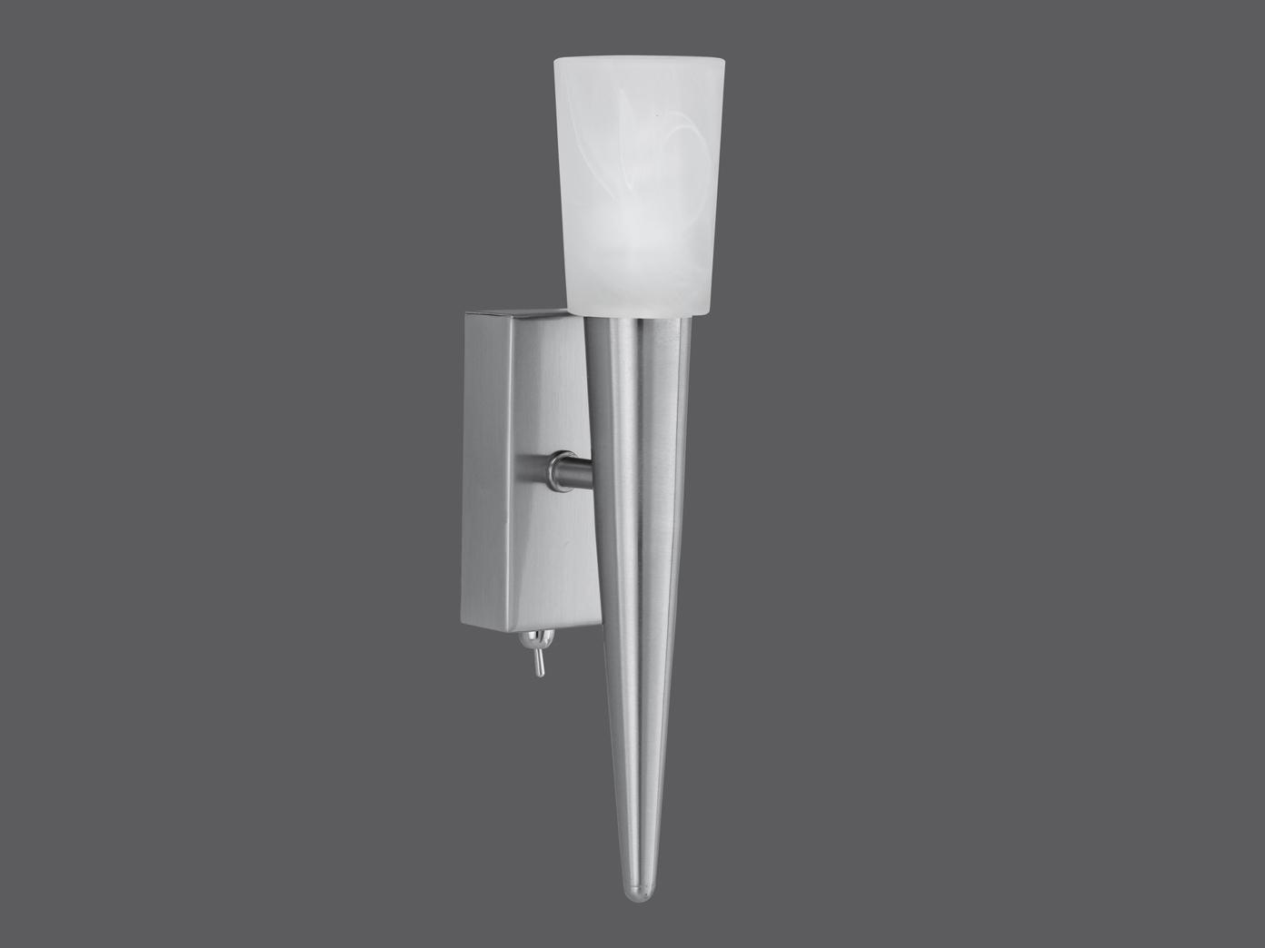 Höhe 27cm ink 1 x G9//28W mit Schalter TRIO Wandleuchte Nickel