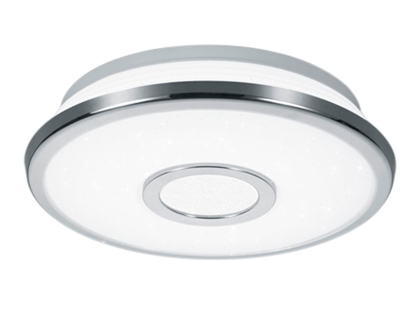 Runde LED Deckenleuchte mit Switch-Dimmer Ø 21cm weiß Sternhimmel -  Schlafzimmer