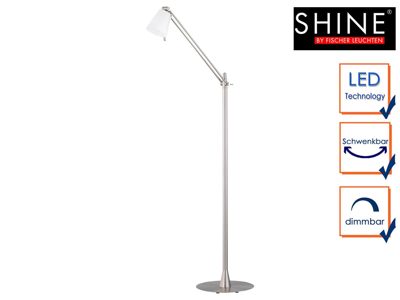 Led Stehlampe Mit Schirm Schwenkbar Dimmbar H 140cm Burolampen