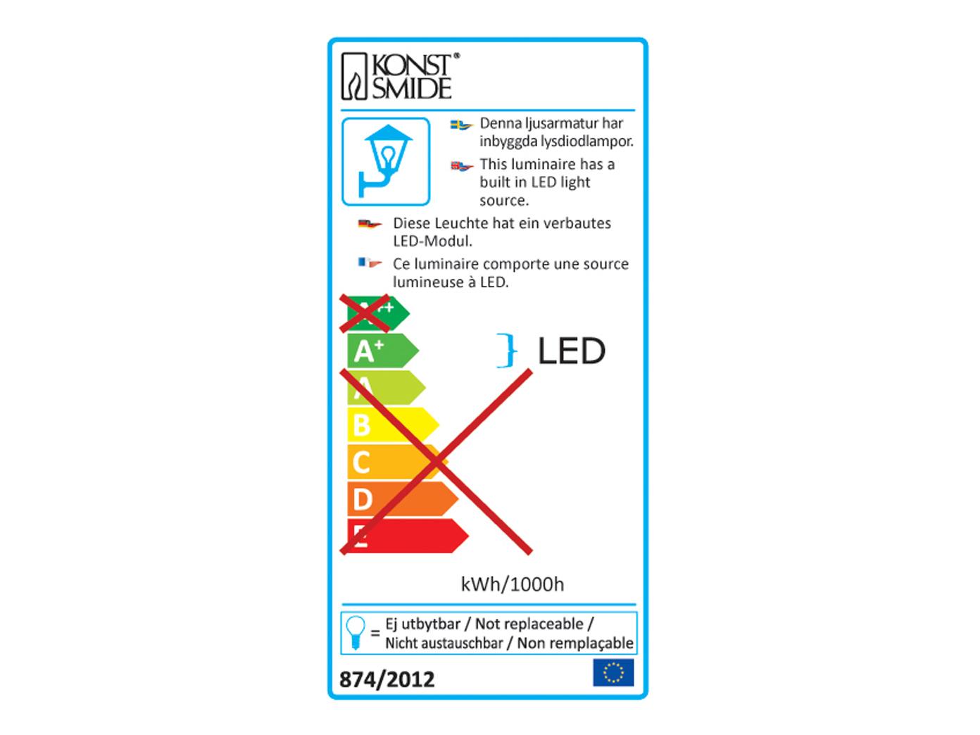 4er-LED Wandaufbauleuchte Wegeleuchte Wegeleuchte Wegeleuchte PRATO Bewegungsmelder batteriebetrieben f44dee