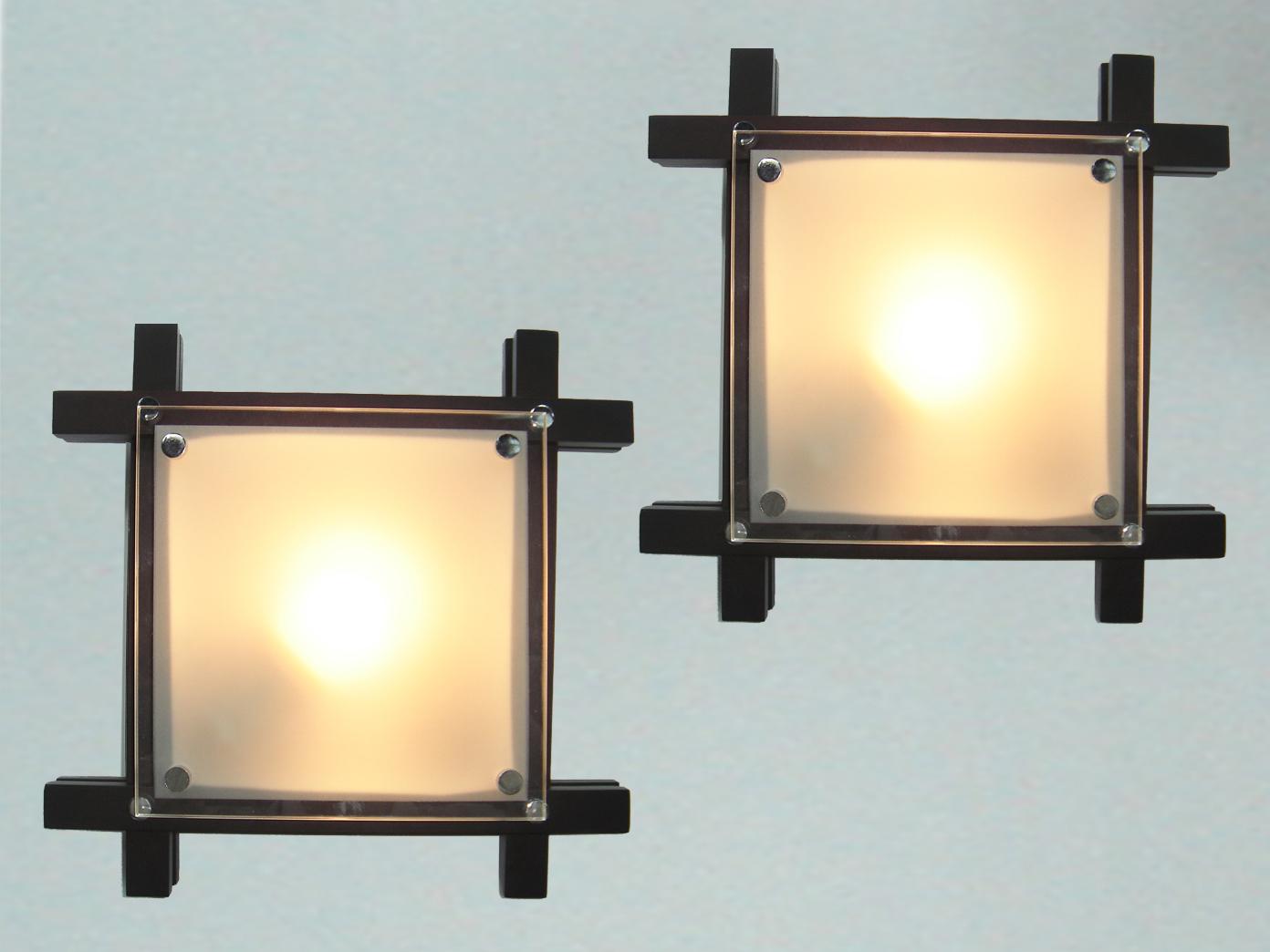 Deckenlampe Wohnraum Wohnzimmer Lampe Glas Globo Deckenleuchte EDISON Holz