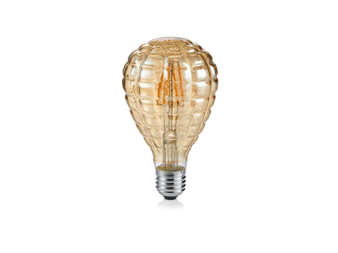 320lm in Warmweiß LED Leuchtmittel mit E27 Fassung stabförmig Glas amber 4W
