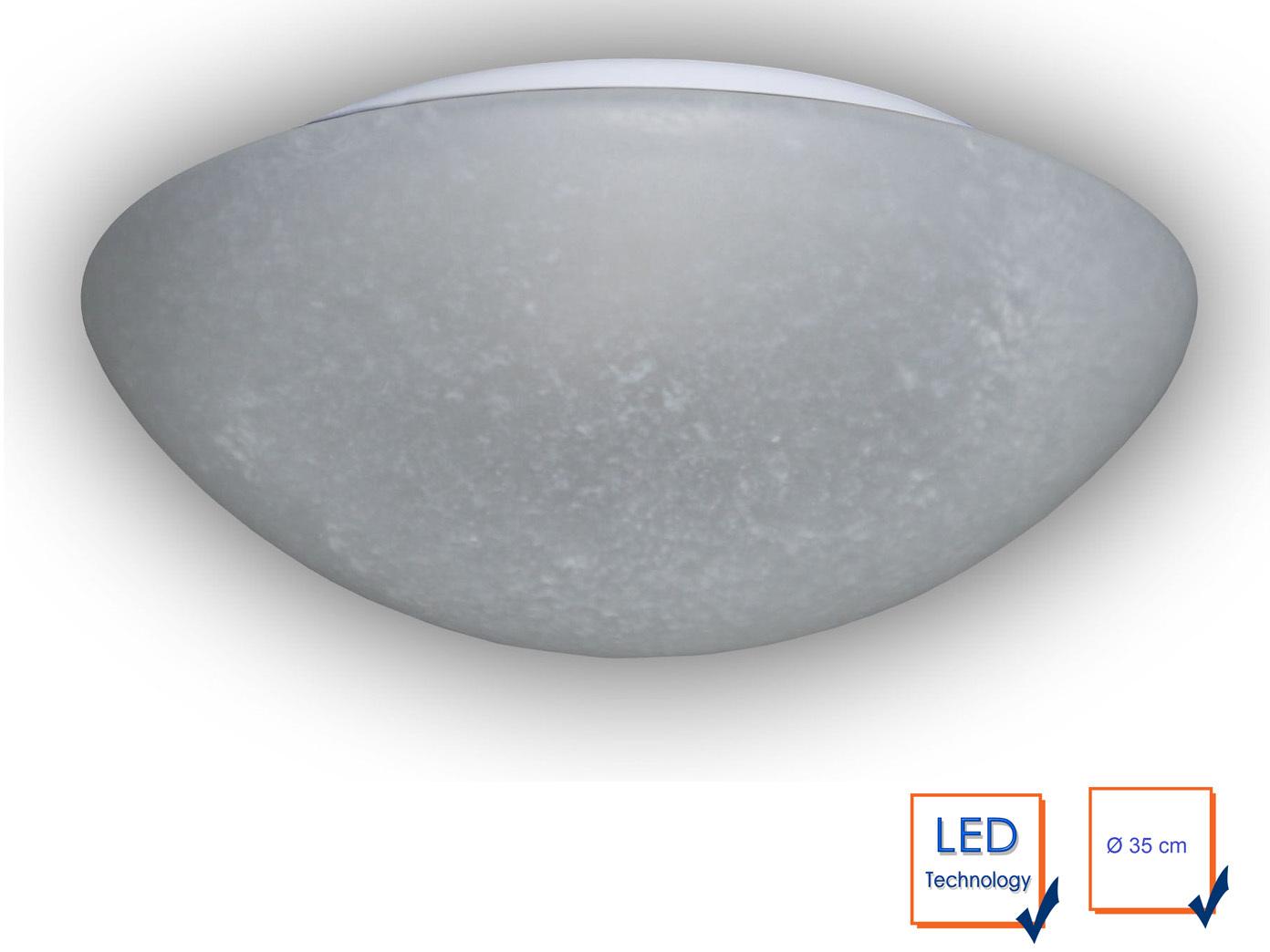 Led Deckenleuchte Rund Pergament Glas O 35cm Kuchenlampe Neu Led