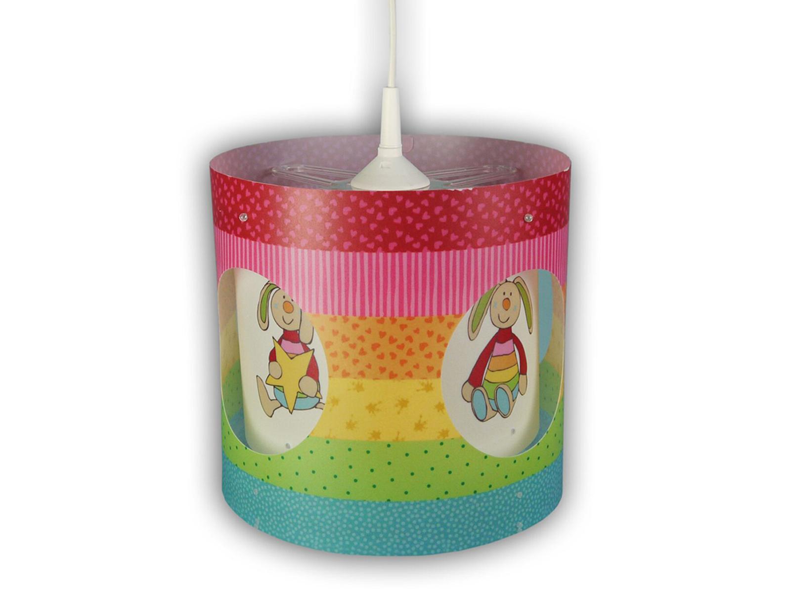 Kinder Pendelleuchte Drehend Lampenschirm Rabbit Motiv Kinderzimmer Lampe Decke