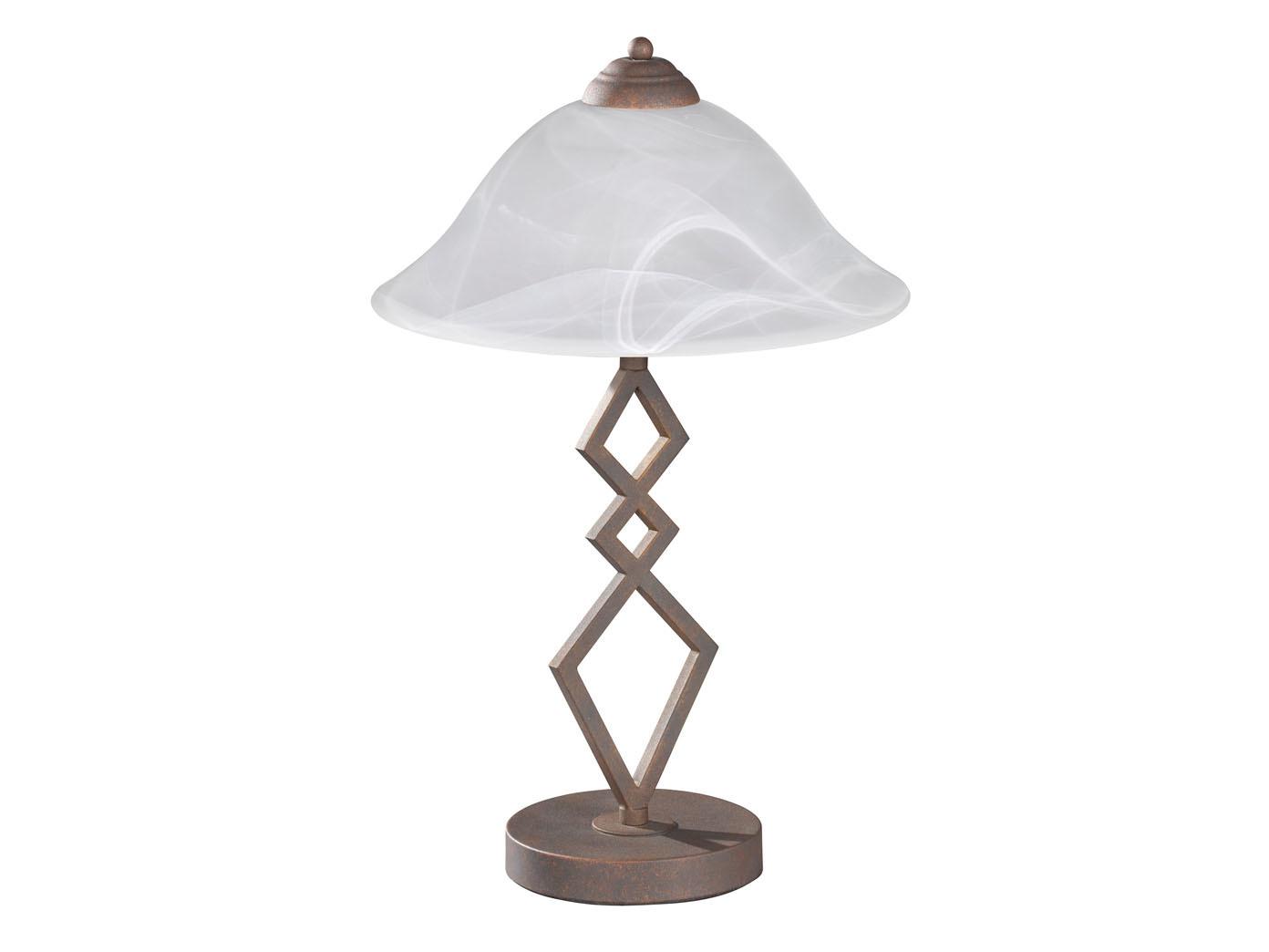 landhaus tischleuchte mit e27 led wohnzimmerlampe antik. Black Bedroom Furniture Sets. Home Design Ideas