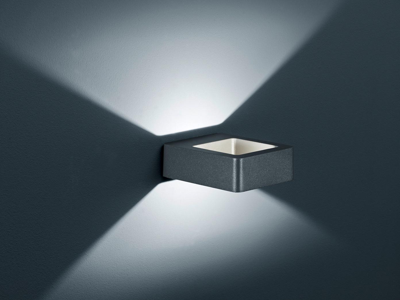 Top Eckige LED Außenwandleuchte Anthrazit - Außenleuchten für Hauswand ZK81