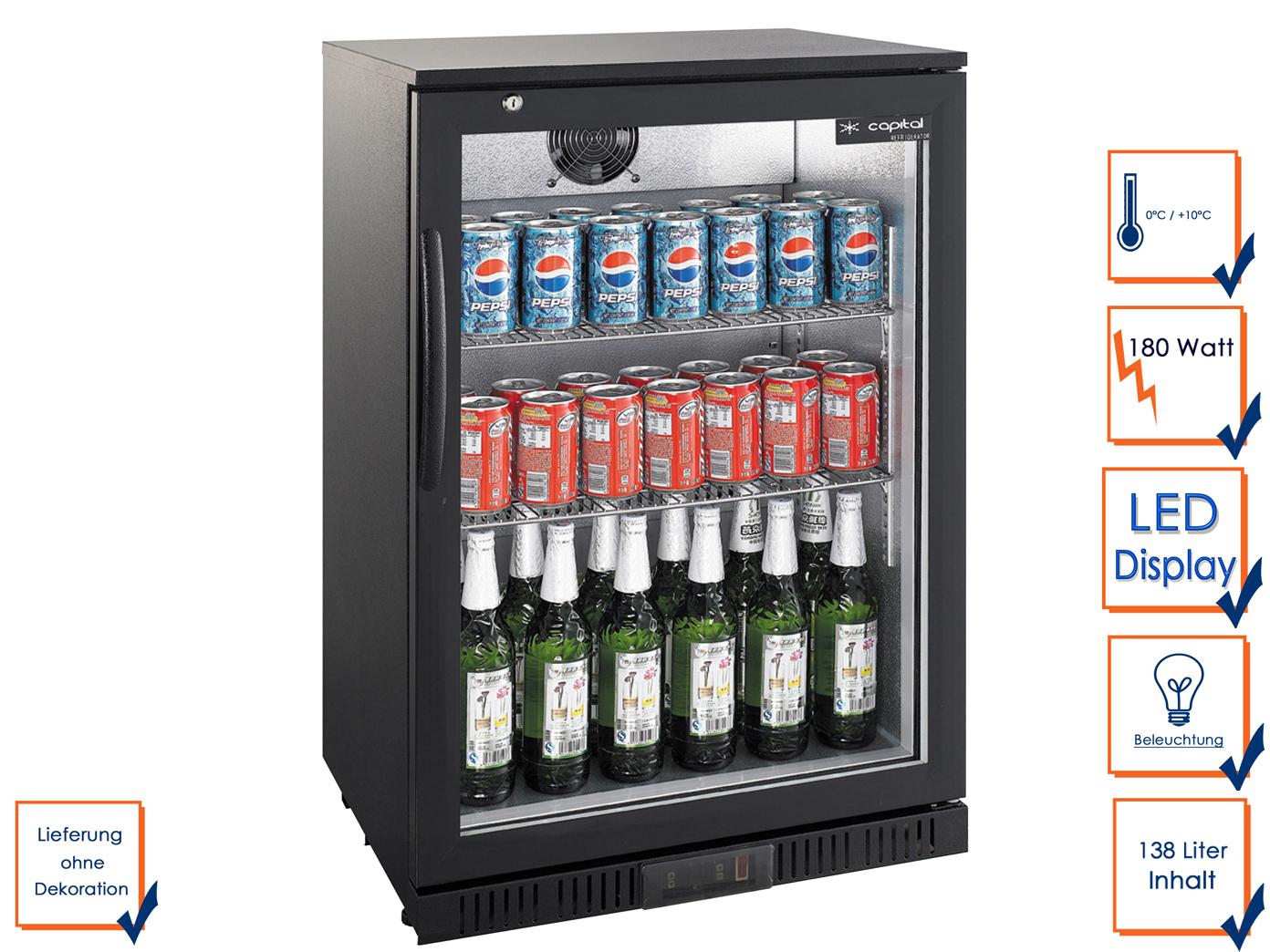 Kühlschrank Gastro : Gastro getränkekühlschrank l flaschenkühlschrank kühlschrank