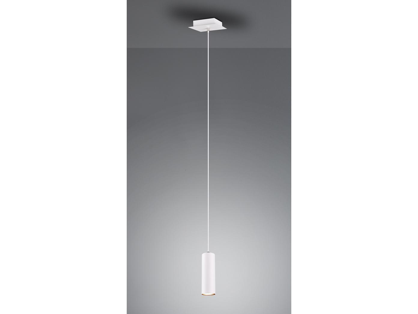 Moderne Pendelleuchte für Wohnzimmer, Schlafzimmer, Küche & Flur aus weißem  Metall