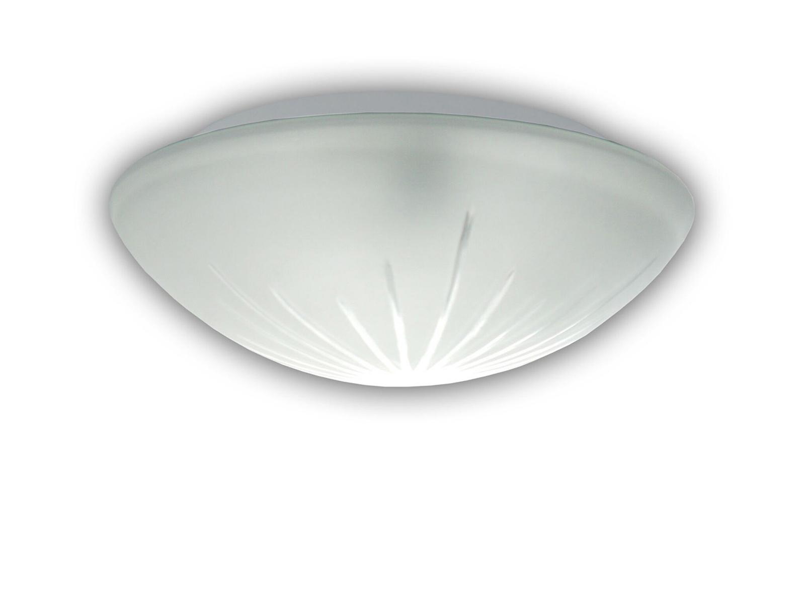 LED Glasleuchte SATINIERT mit Klarrand Ø 20cm Deckenlampe rund Glas Wandlampe