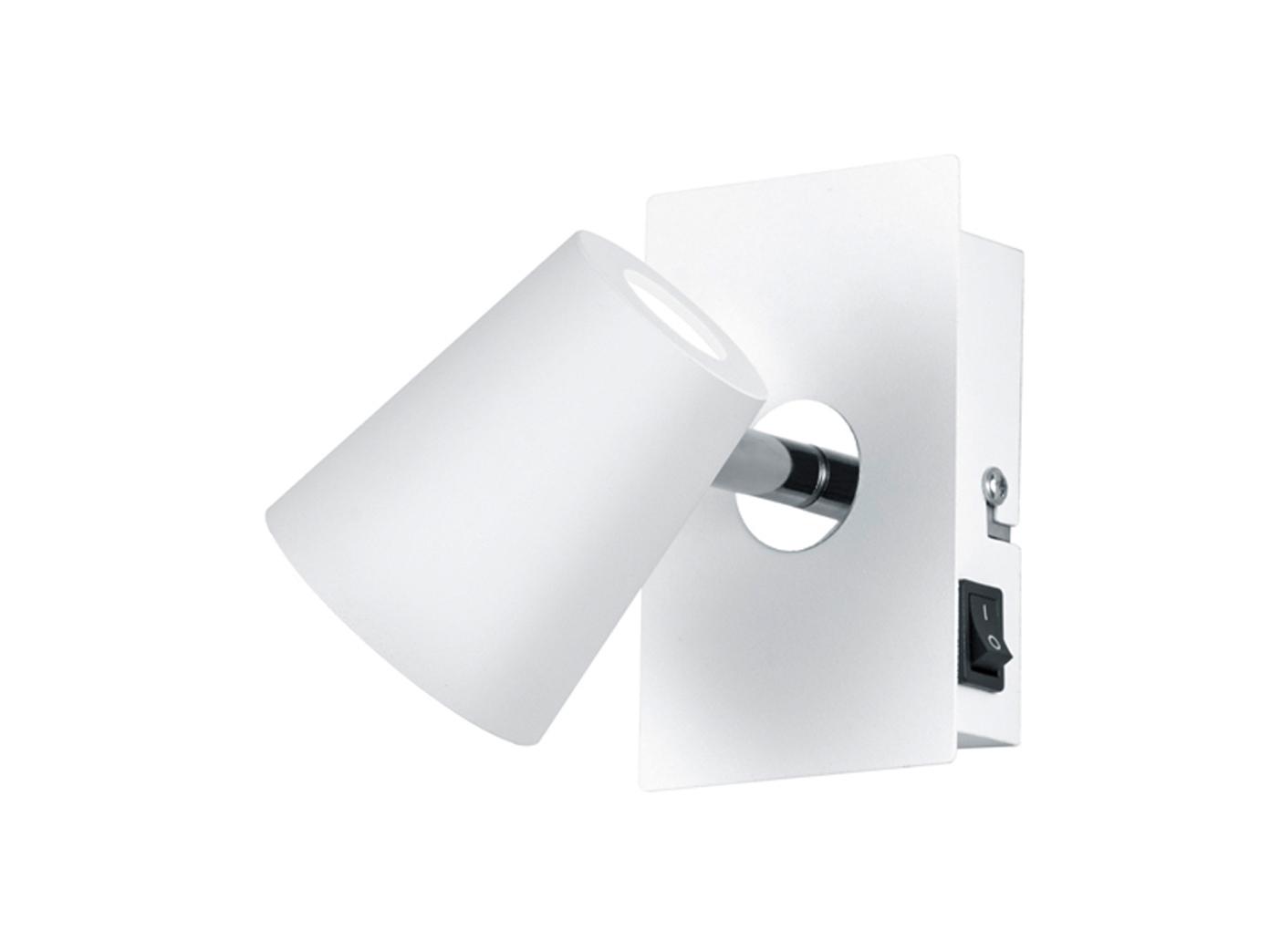 LED Wandstrahler Weiß matt Spot schwenkbar 6W - Wandleuchten Schlafzimmer