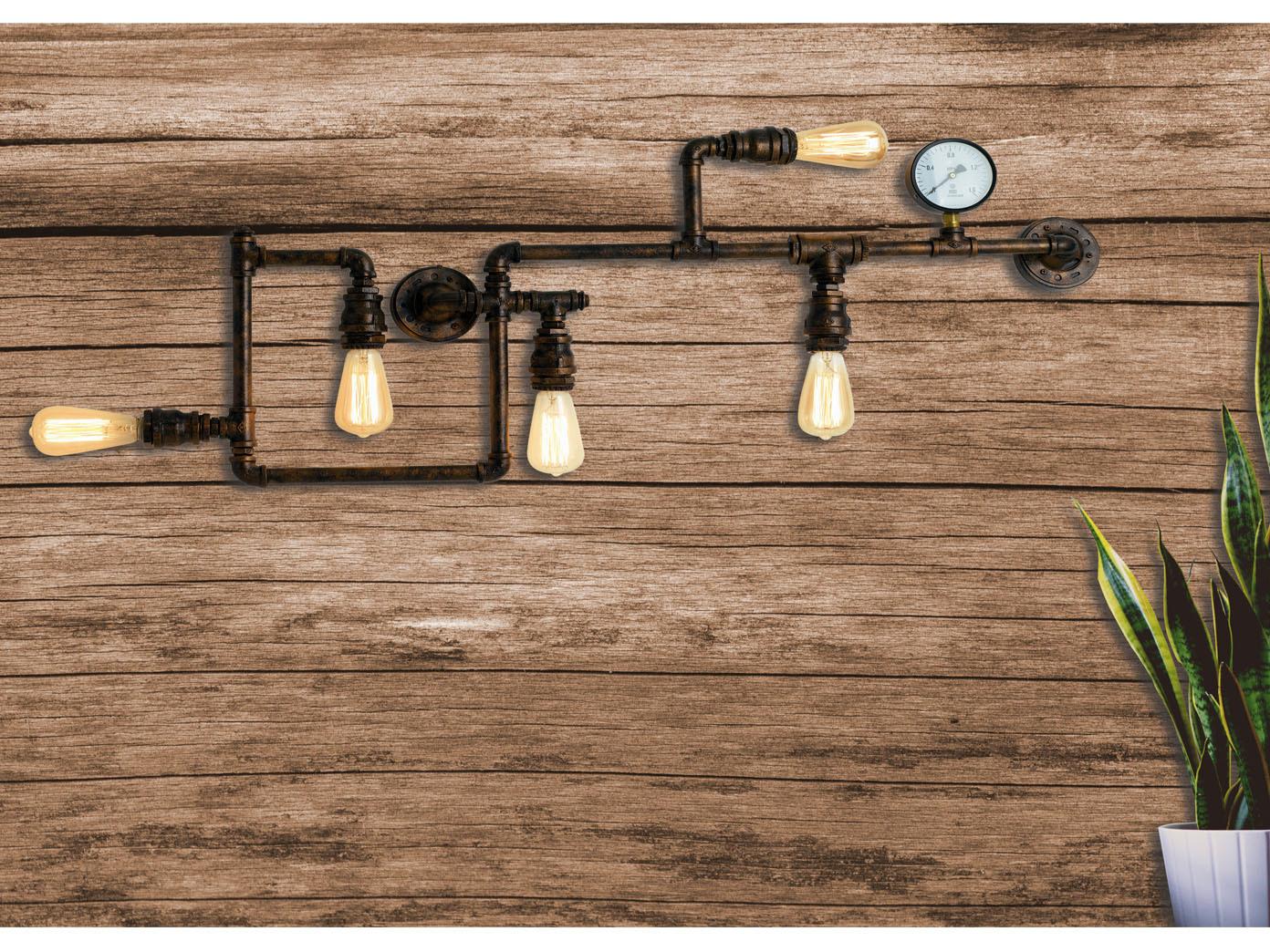 Coole ausgefallene Esstischlampen aus Wasserrohren mehrflammig Industrial Look