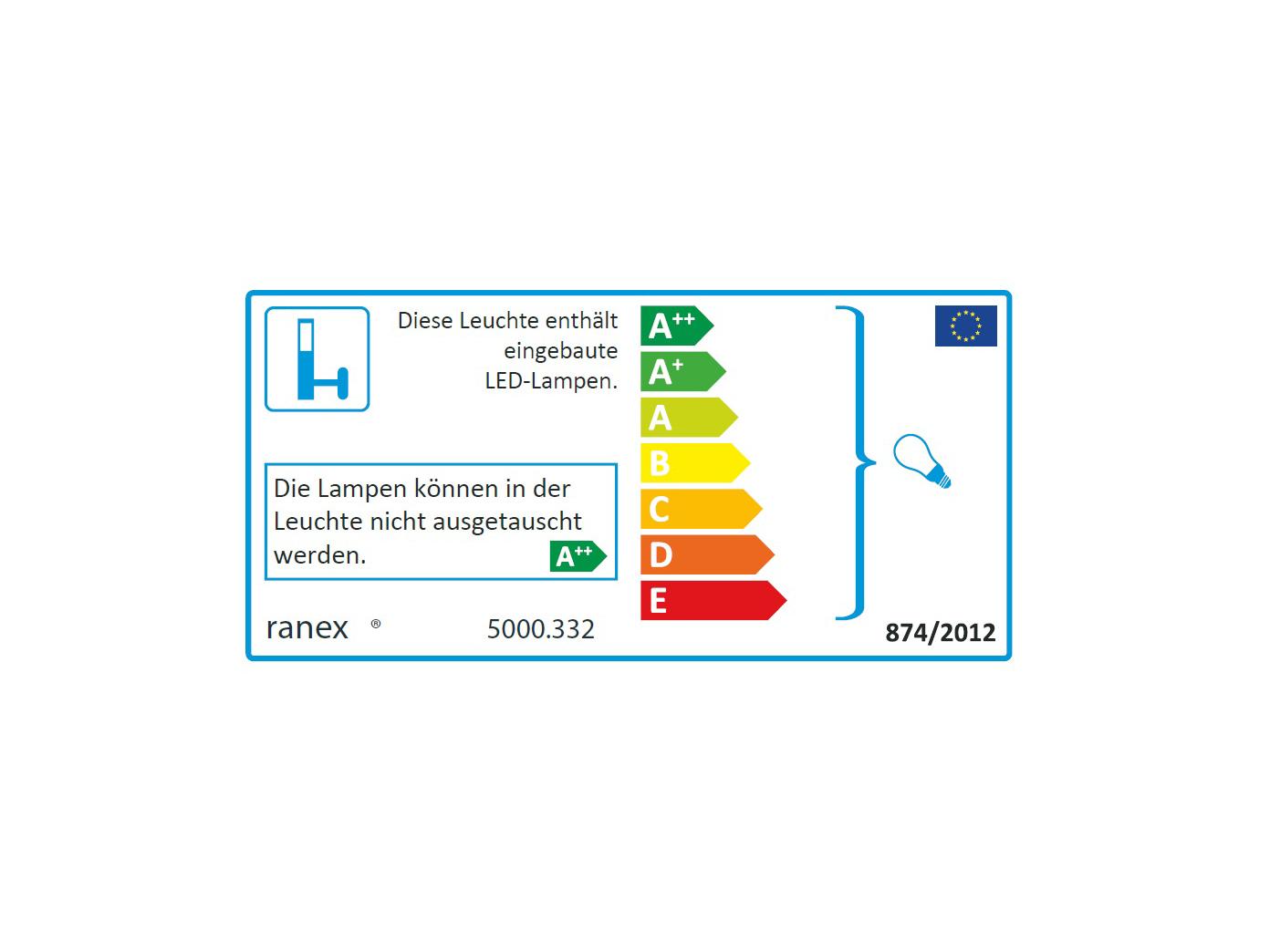 10x LED Außenwandleuchte Bastia Aluminium Anthrazit Down Light Wandleuchte Außen Außen Außen e5a0d3