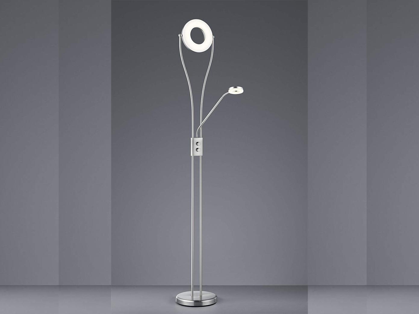 Led Deckenfluter Silber Matt Dimmbar Mit Flex Leselicht Stehleuchte Stehlampe Kaufen Bei Setpoint Deutschland Gmbh