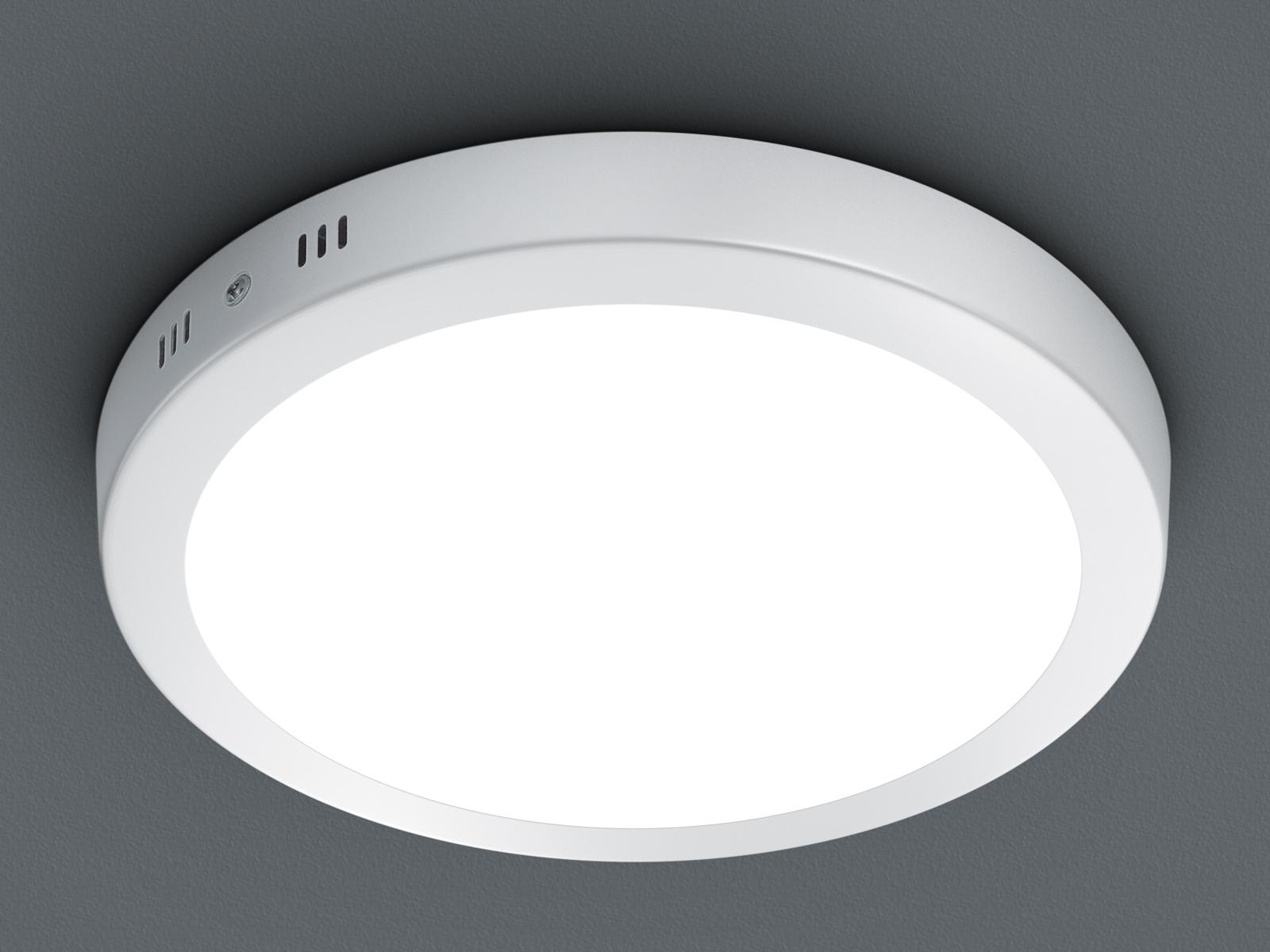 LED Deckenleuchte Deckenlampe ZEUS Aluminium Acryl weiß 22,5x22,5 cm