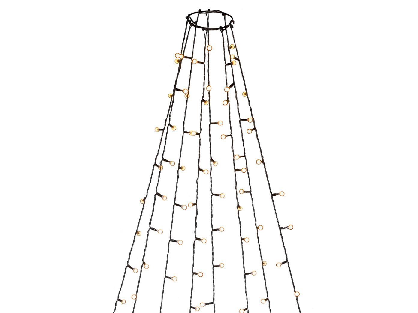 Lichterkette Weihnachtsbaum Außen.Lichterkette Für Außen 560 Bernsteinfarbene Led S Weihnachtsbaum Beleuchtung