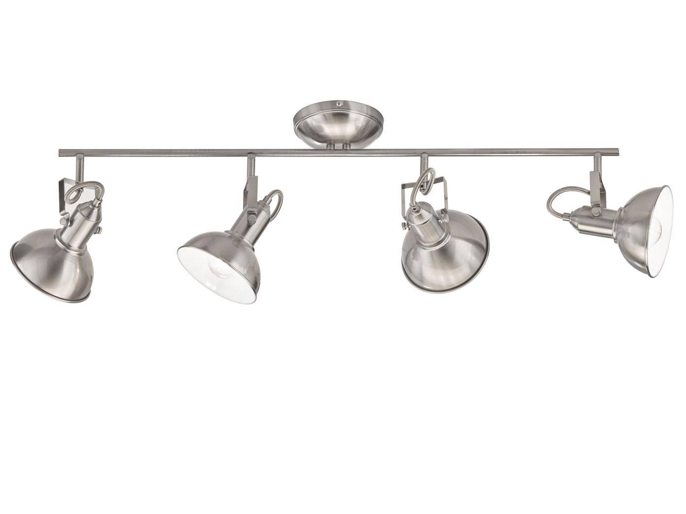 Deckenstrahler Wohnzimmer | Retro Led Deckenstrahler Nickel Matt Spots Schwenkbar Deckenlampen