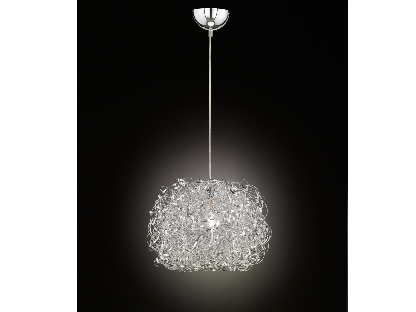 led h ngeleuchte silber 40cm esstisch lampe. Black Bedroom Furniture Sets. Home Design Ideas