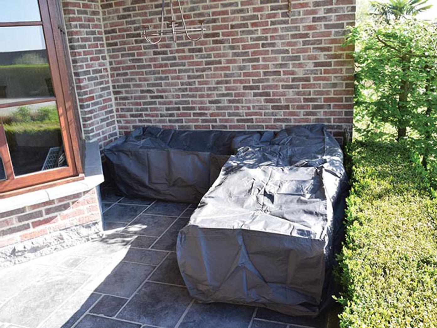 Schutzhülle Abdeckung Trapez Für Garten Loungemöbel 275x275cm