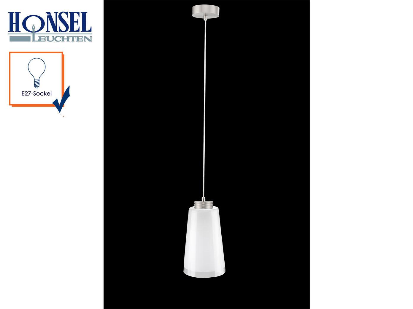 Pendelleuchte Lampenschirm Glas Weiss 18cm Hangelampe Esstischlampe