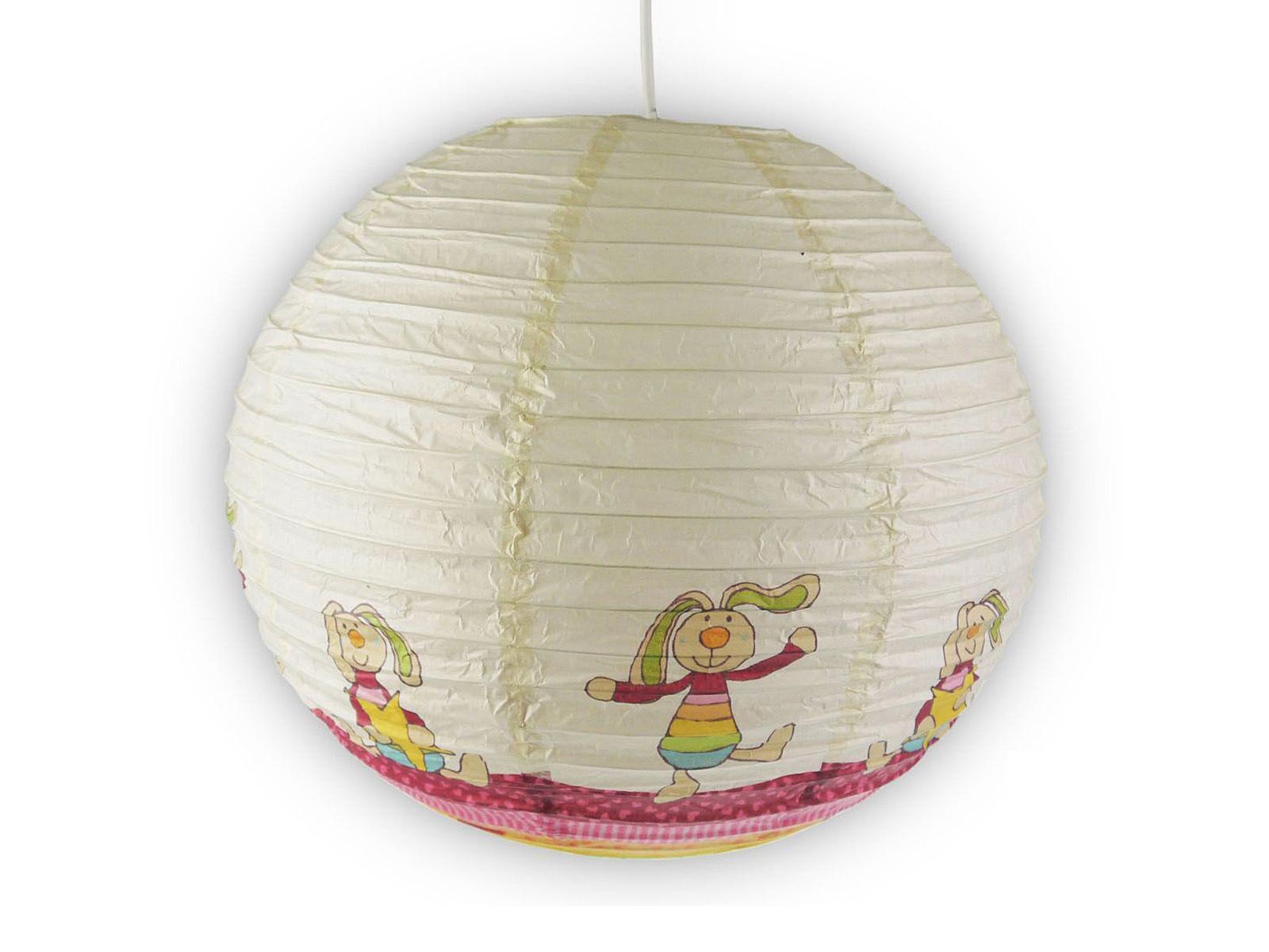 Papier Lampenschirm bunt für Kinderzimmer Rabbit Lampion Kugel ...