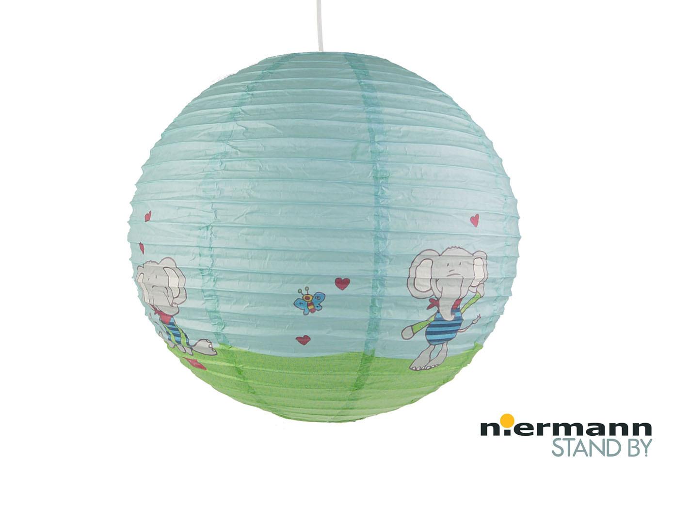 Papier Lampenschirm fürs Kinderzimmer mit Elefanten Lampion Kugel ...