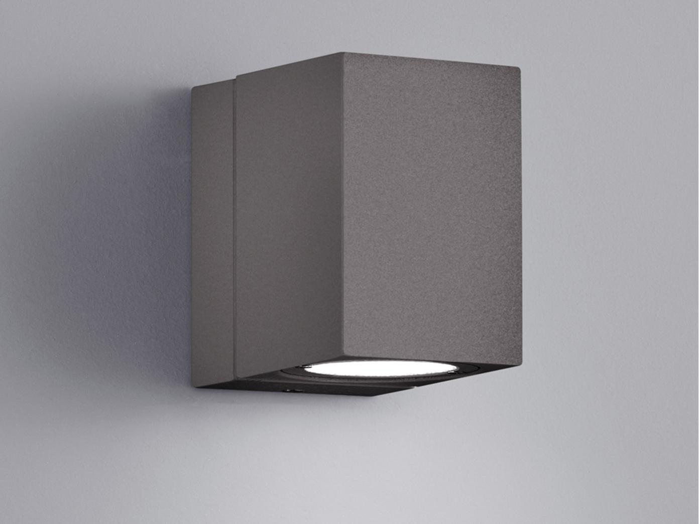 led au en wandleuchte tiber anthrazit 320 schwenkbar. Black Bedroom Furniture Sets. Home Design Ideas