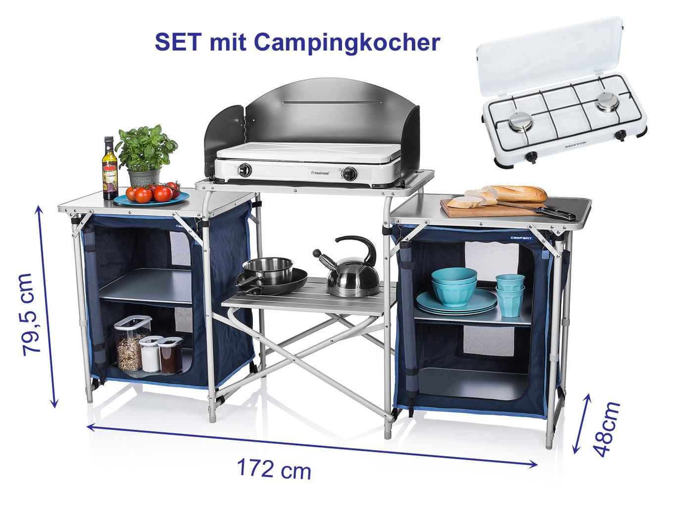 Outdoor Küche Edelstahl Xxl : Camping kÜche faltbar mit gaskocher outdoor campingschrank camper