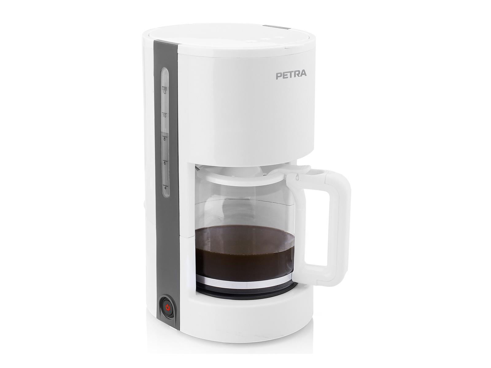 moderne 1 2 liter kaffeemaschine arktisch wei von petra. Black Bedroom Furniture Sets. Home Design Ideas
