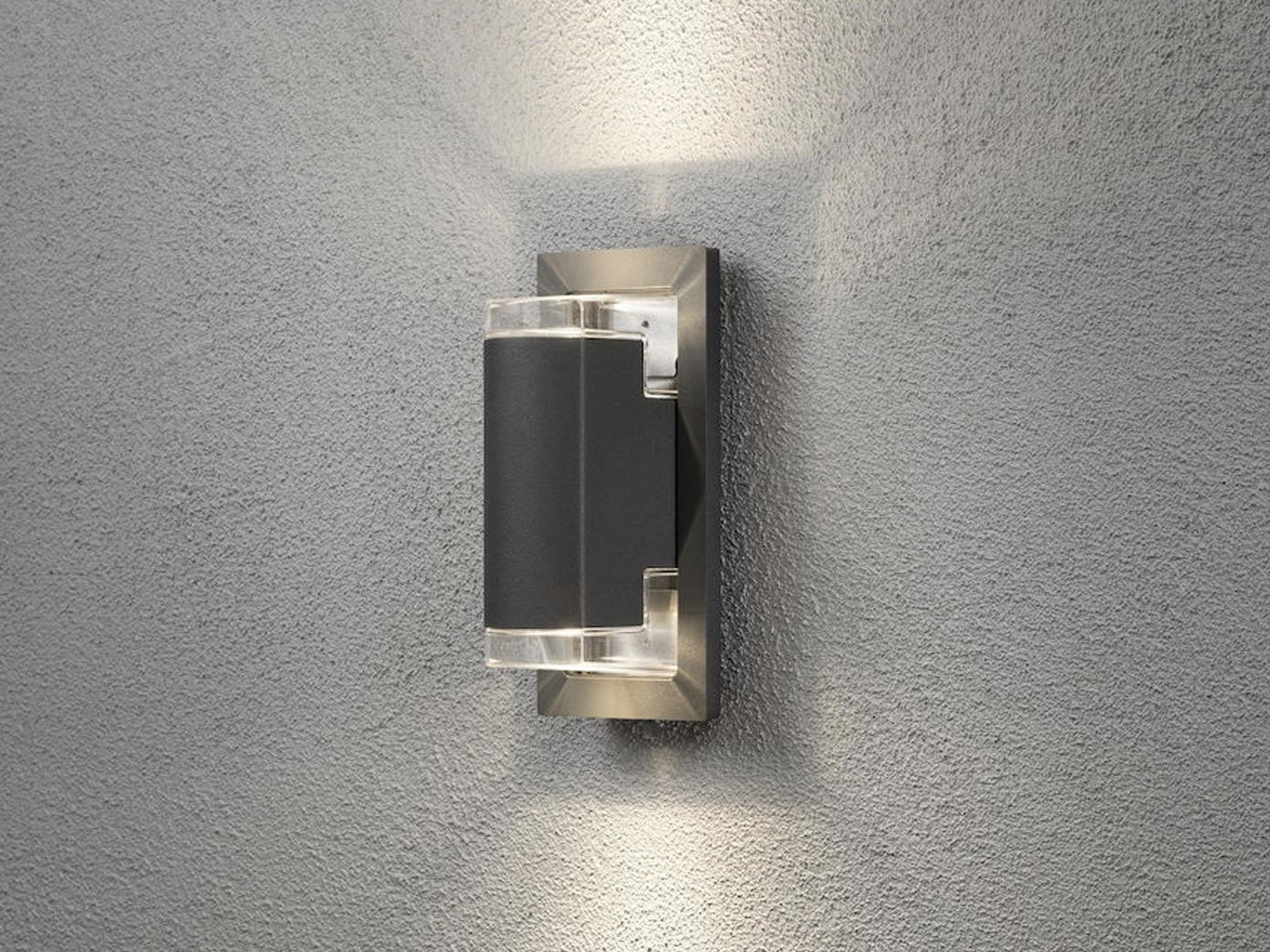 au enwandleuchte alu anthrazit 2x 5w led up down. Black Bedroom Furniture Sets. Home Design Ideas