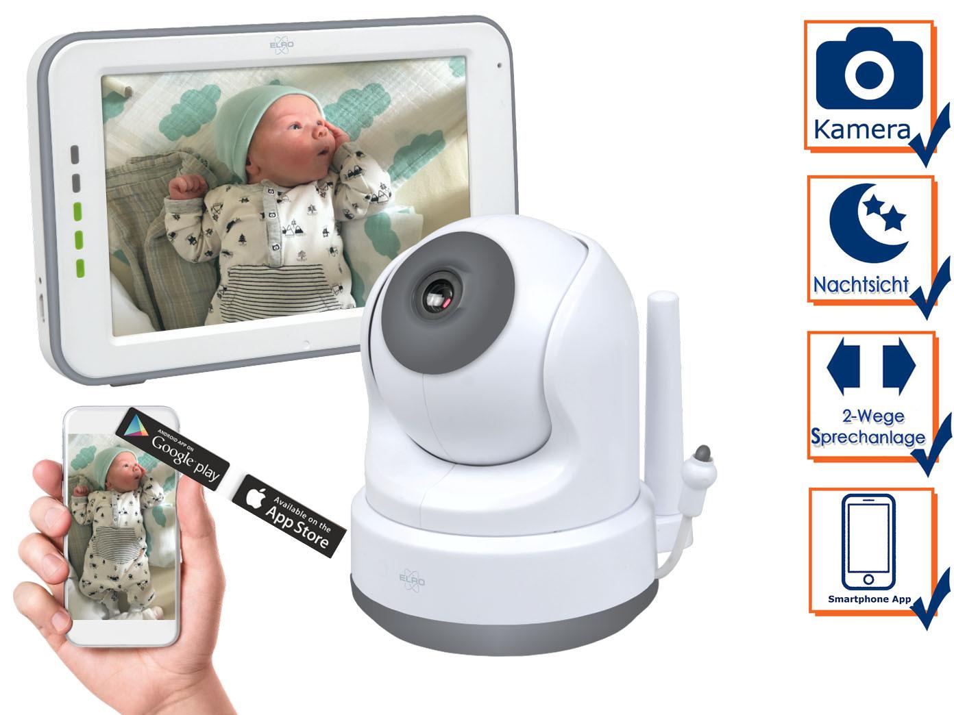 über Smartphone Handy für Android als auch iphone Babyphone mit Kamera und APP
