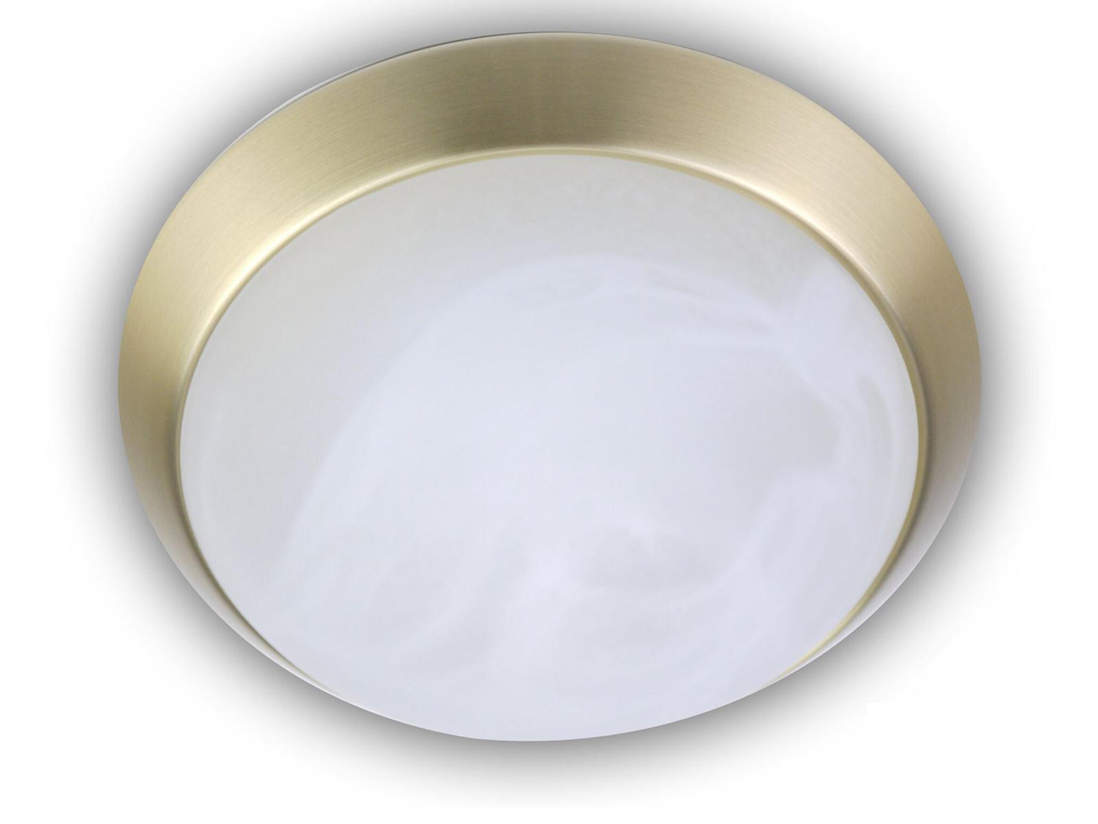 Design LED Deckenleuchte rund Landhausleuchte Ø30cm Alabaster Glas Nickel matt