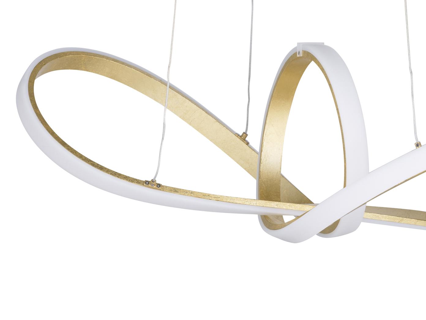 Ausgefallene Pendelleuchte LED dimmbar Gold Designer Deckenleuchten ...